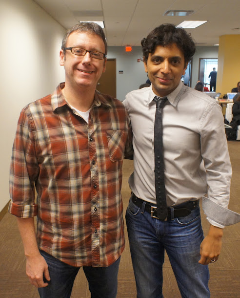 Screenwriter Gary Whitta and M. Night Shyamalan