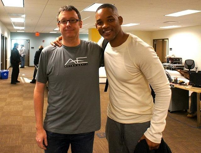 Screenwriter Gary Whitta and Will Smith