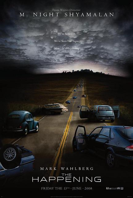 the happening movie poster     M Night Shyamalan