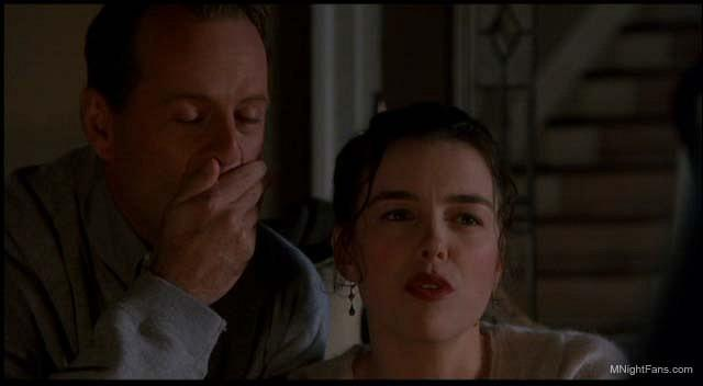Bruce Willis as Dr. Malcolm Crowe and Olivia Williams as Anna Crowe