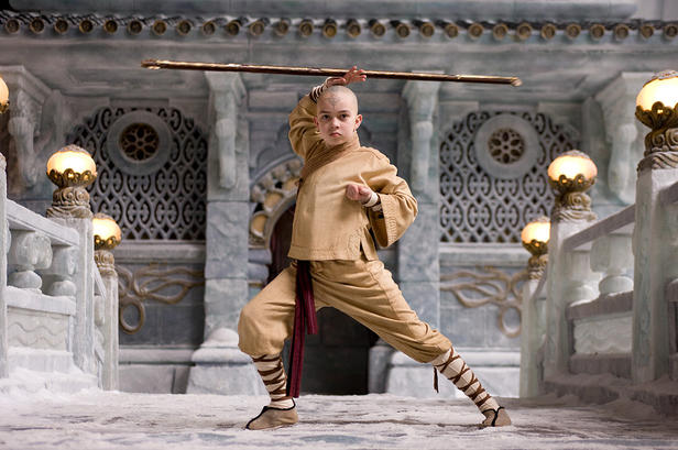 Noah Ringer as Aang in The Last Airbender
