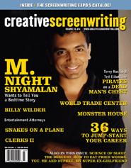 Creative Screenwriting - M. Night Shyamalan Cover