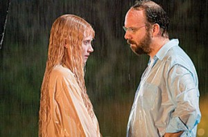 Bryce Dallas Howard and Paul Giamatti in Lady in the Water